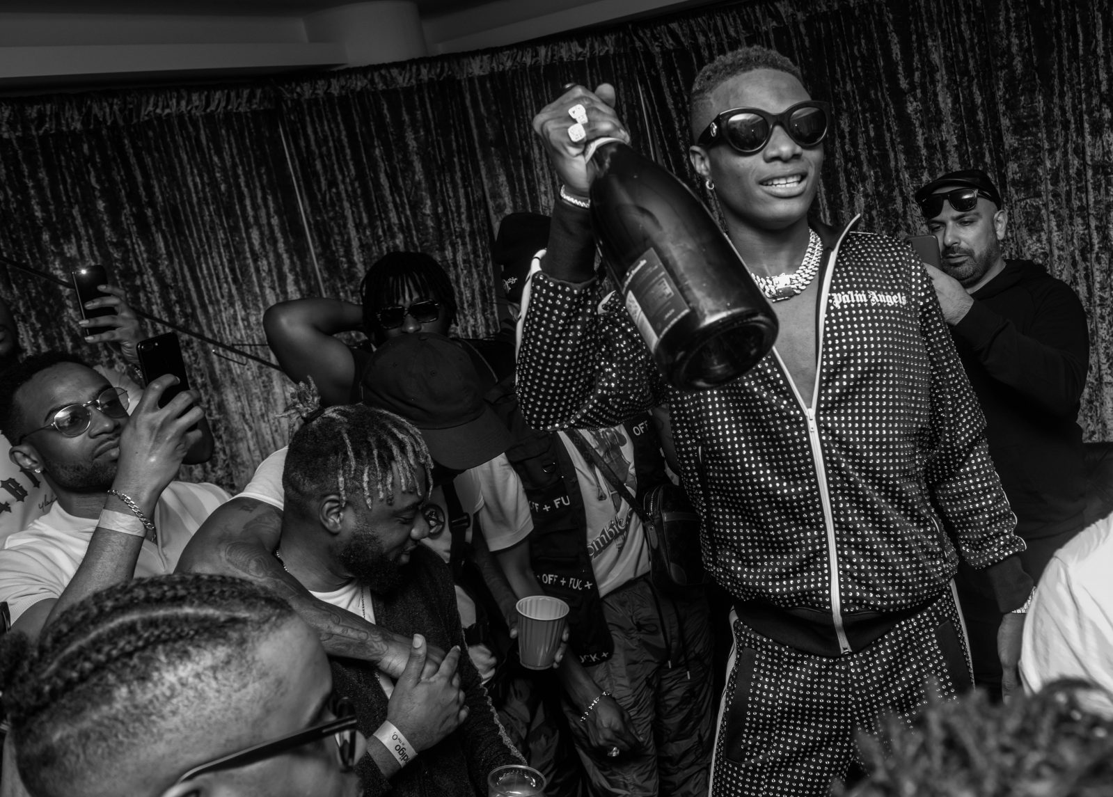 o2 Arena, London, United Kingdom. 26th May 2018. Wizkid in his dressing room during AFROREPUBLIK festival at The O2 Arena.