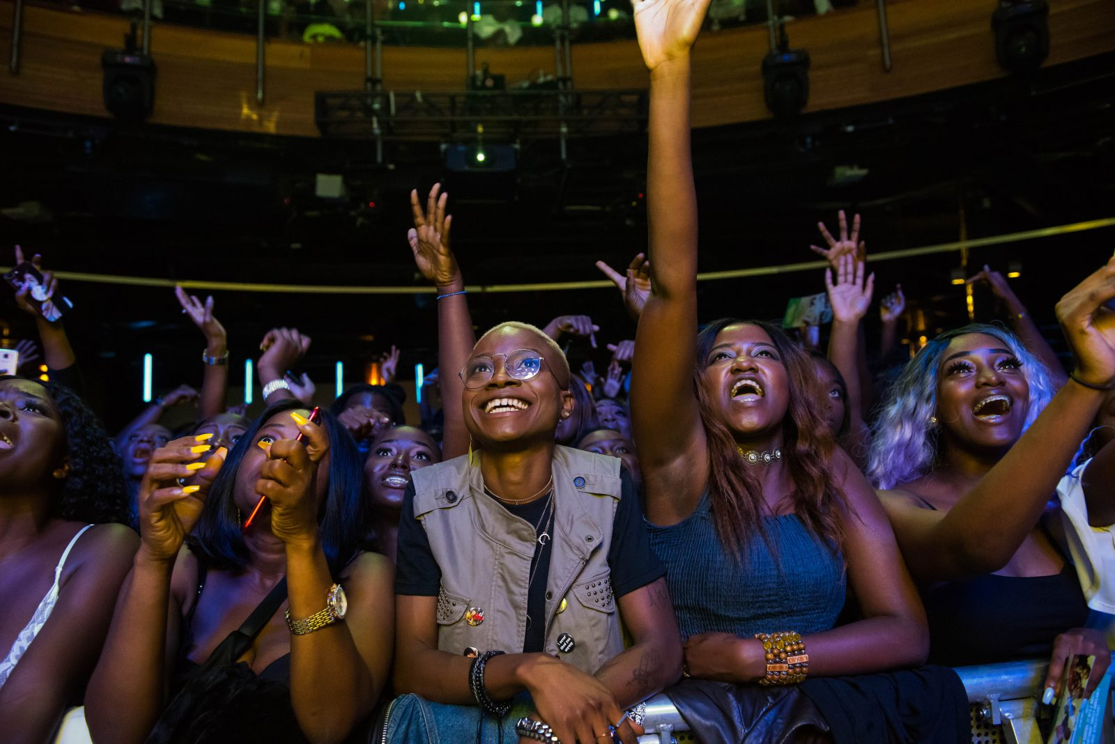 Indigo at The O2, London, United Kingdom. 24th August 2018. Fans reaction to Tiwa Savage's performance during her First solo concert at indigo O2.