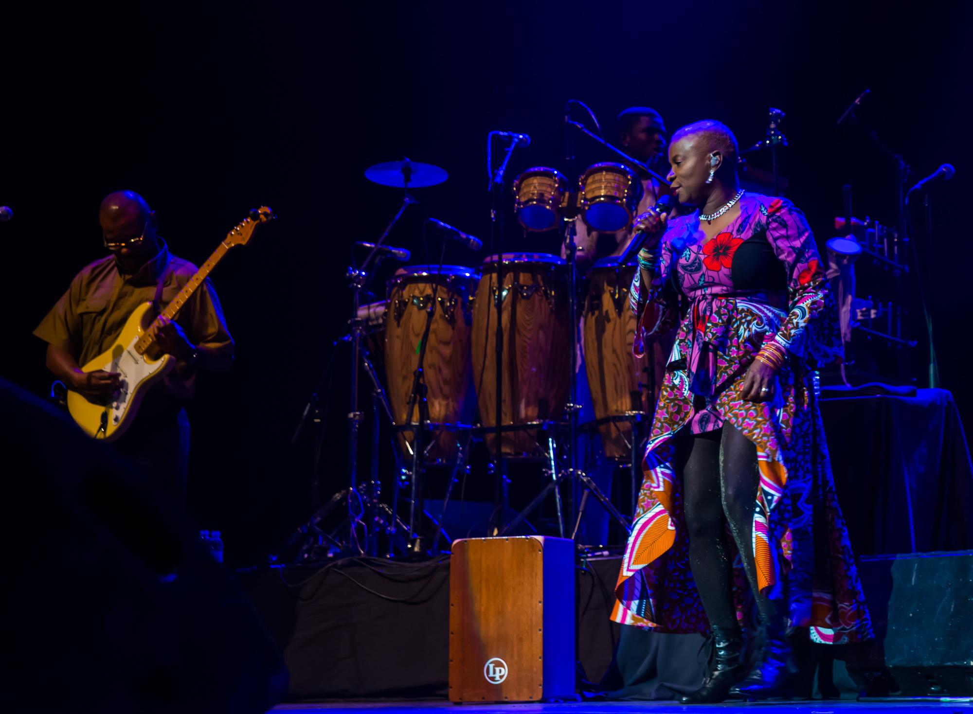 Royal Festival Hall, UK. 14th November 2014. Angelique Kidjo performing at Royal Festival Hall
