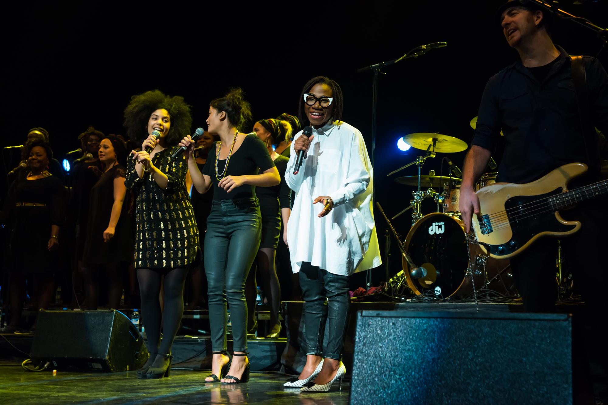 Royal Festival Hall, UK. 14th November 2014. Angelique Kidjo, Asa and Ibeyi performing at Royal Festival Hall