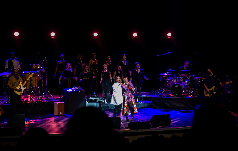 Royal Festival Hall, UK. 14th November 2014. Angelique Kidjo, Asa performing at Royal Festival Hall