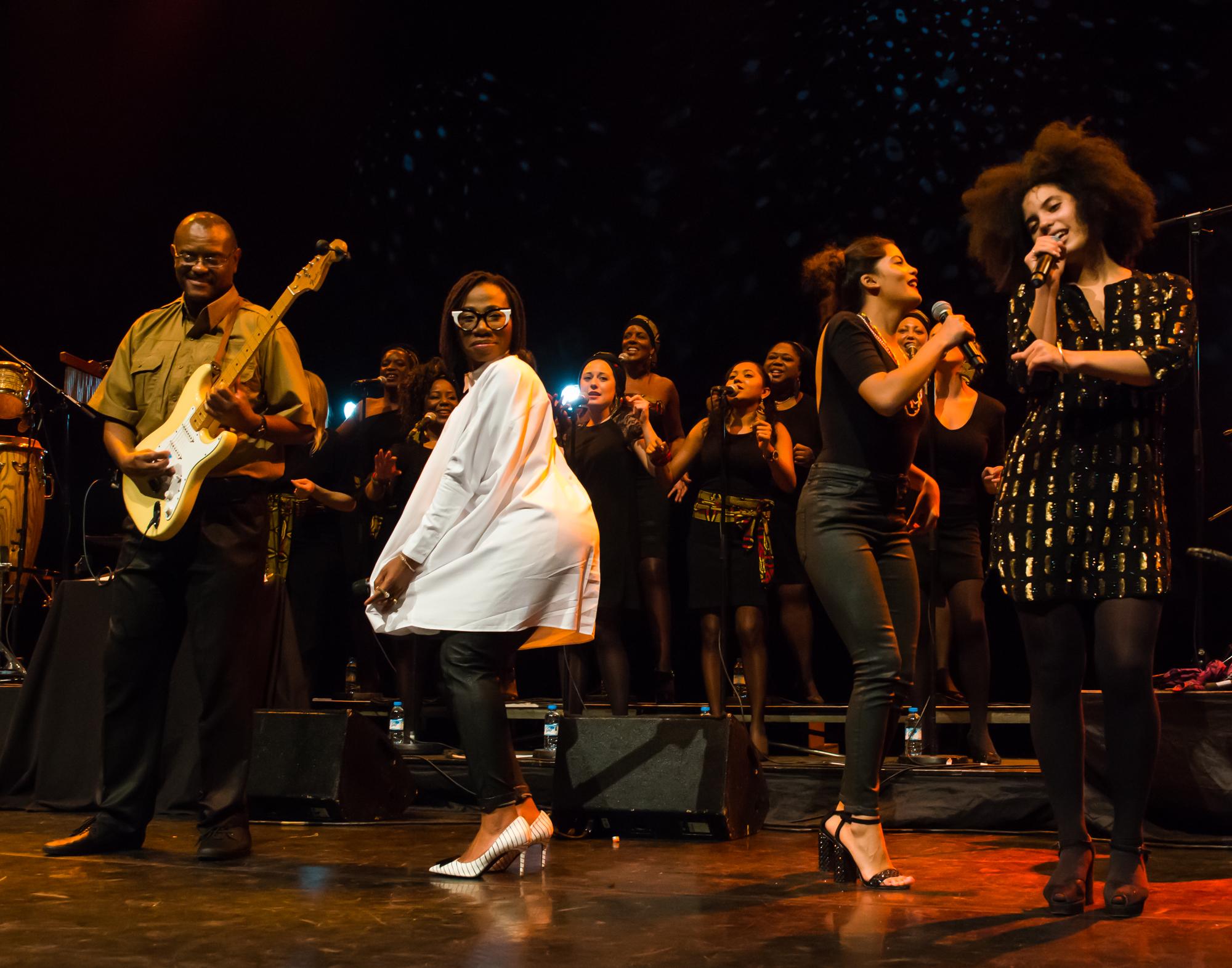Royal Festival Hall, UK. 14th November 2014. Angelique Kidjo, Ibeyi, Asa performing at Royal Festival Hall