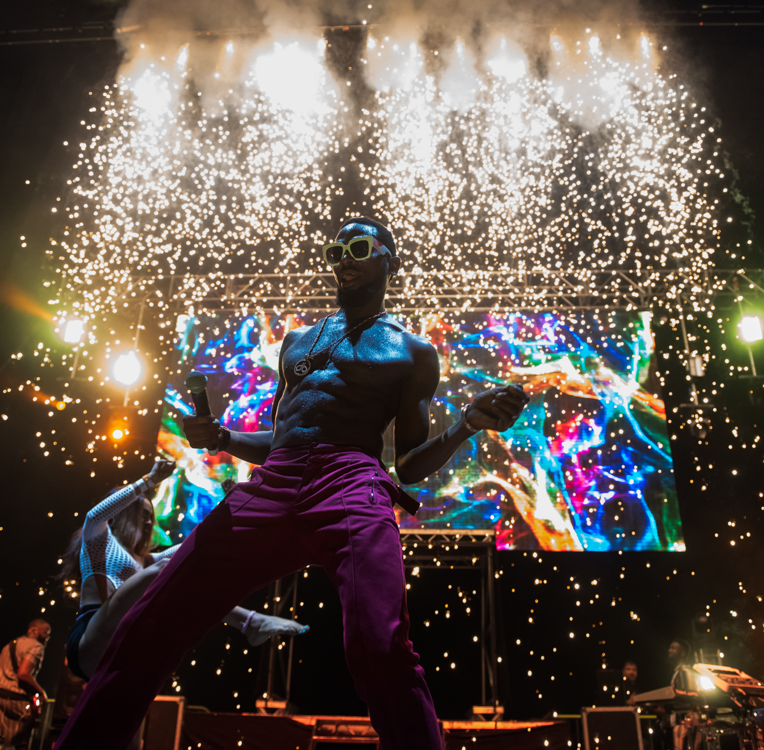 London, United Kingdom. 25th August 2019. Dbanj performing live with Compozers at 02 Academy Brixton during his UK tour.