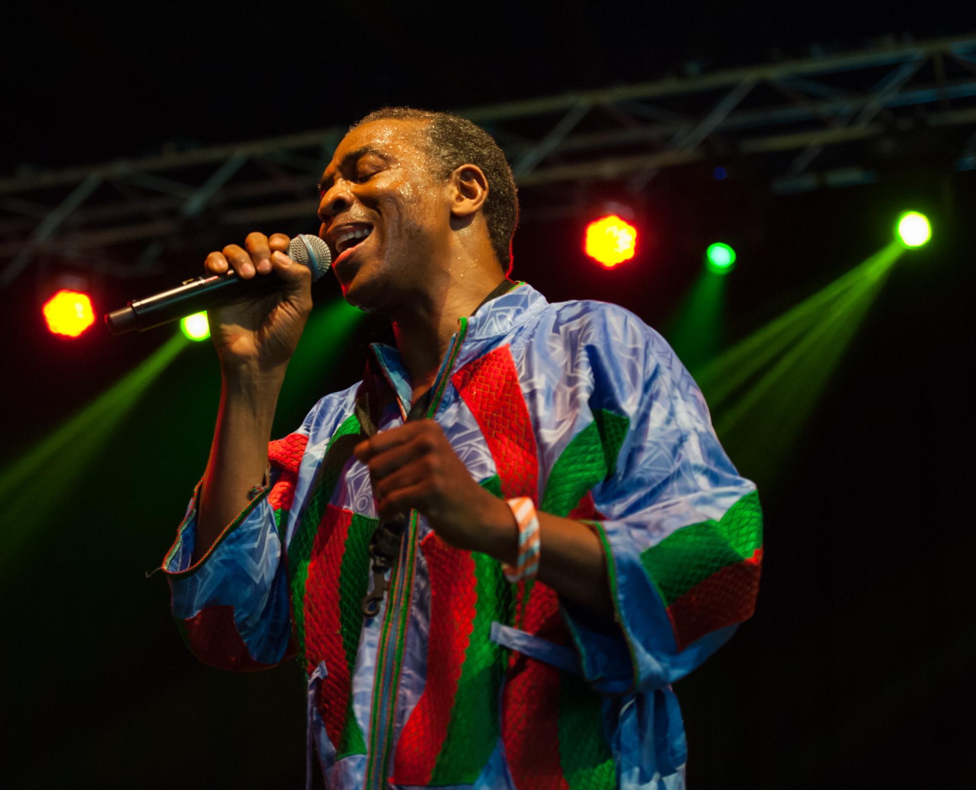 London, UK. 19th July 2015. Femi Kuti performing at Walthamstow Garden Party 2015.