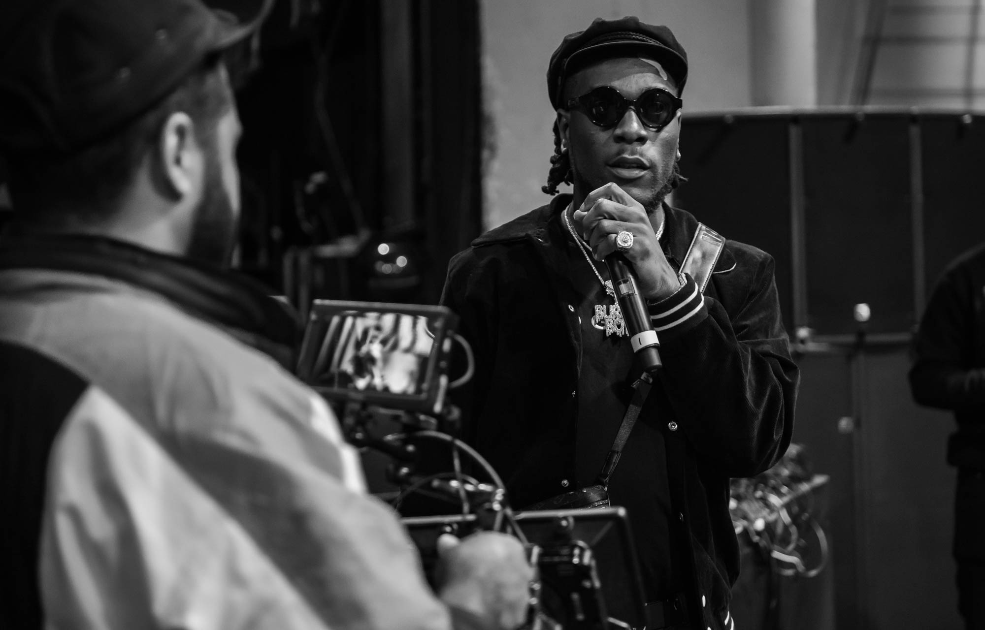 London, United Kingdom. 7th October 2018.  Backstage: Burna Boy preparing for his concert  at Brixton Academy.  Photographed by Michael Tubes