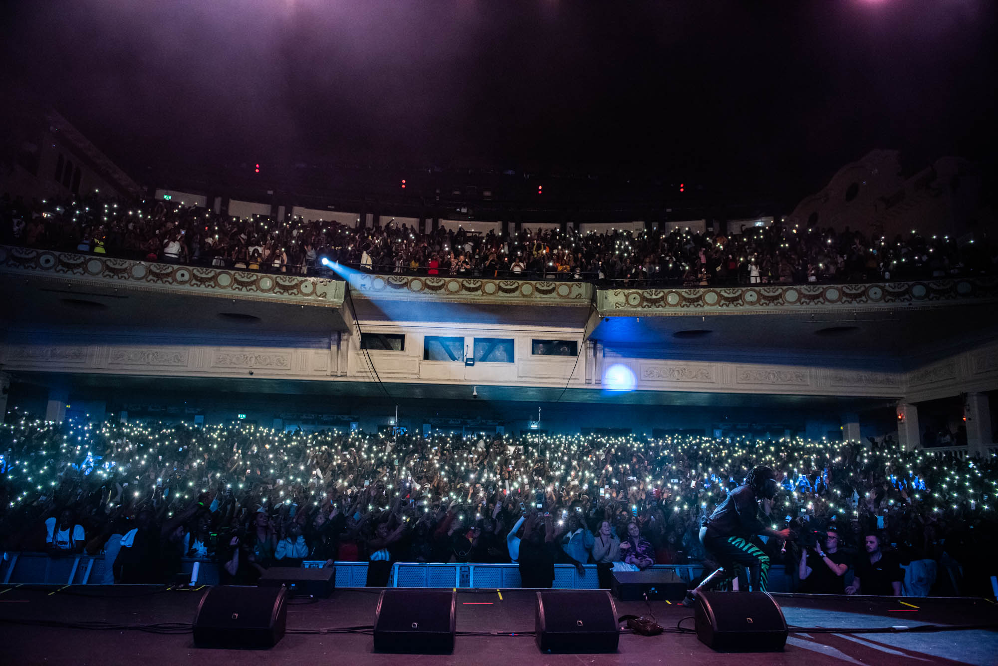 London, United Kingdom. 7th October 2018.  Burna Boy performs live at Brixton Academy.  Photographed by Michael Tubes