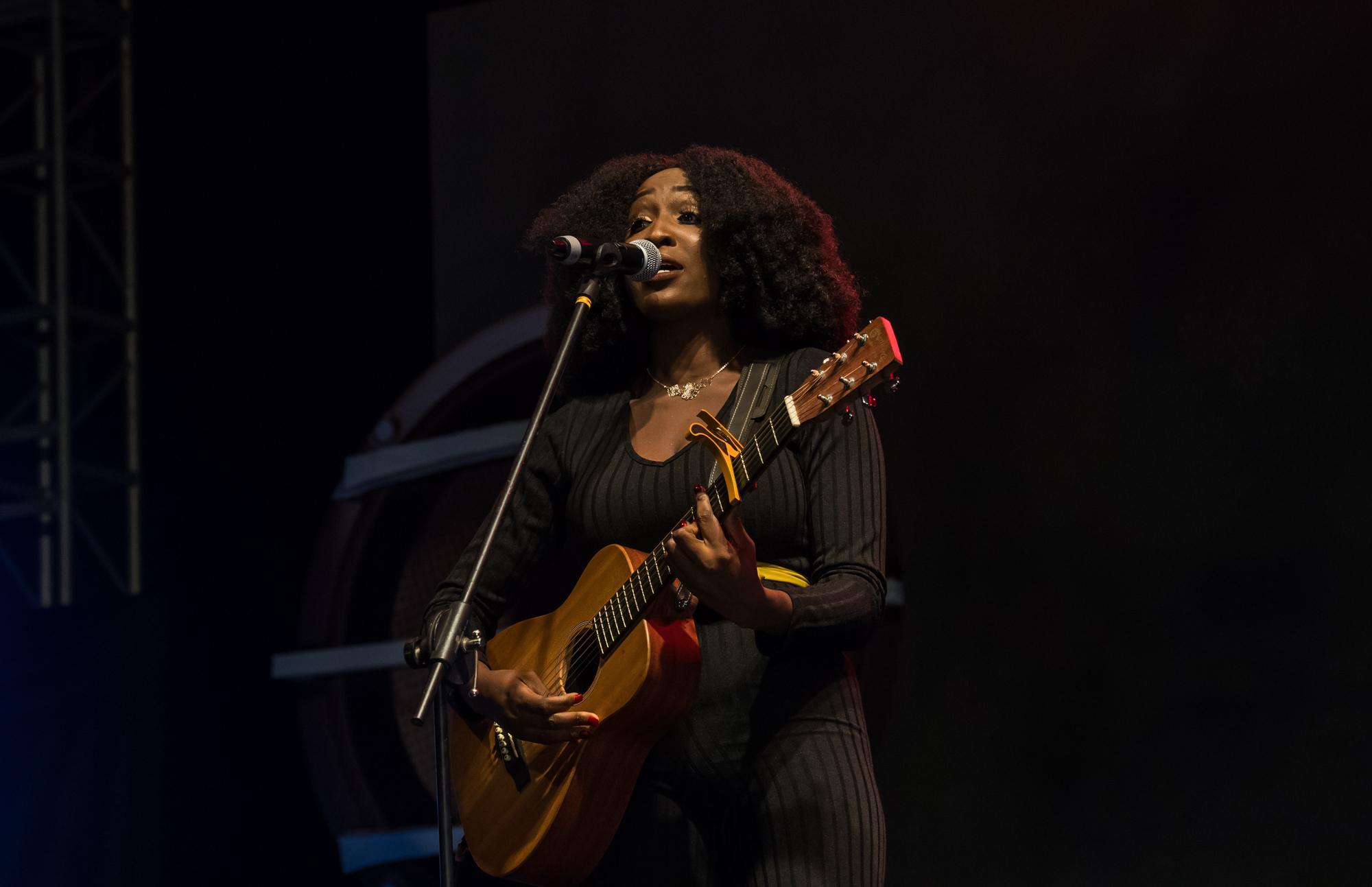 Lagos, Nigeria. 9th November 2018.  Aramide performing at Human Radio Concert. Photographed by Michael Tubes