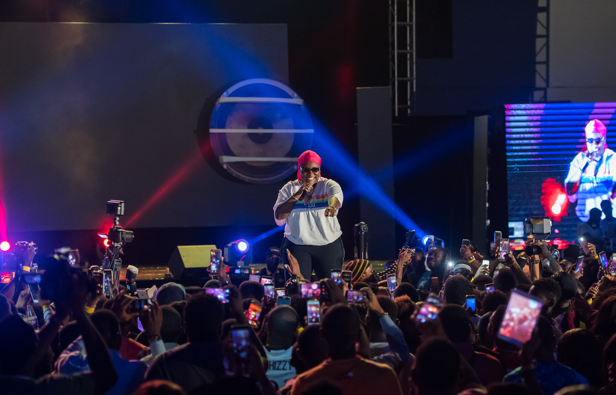 Lagos, Nigeria. 9th November 2018.  Teni performing at Human Radio Concert. Photographed by Michael Tubes