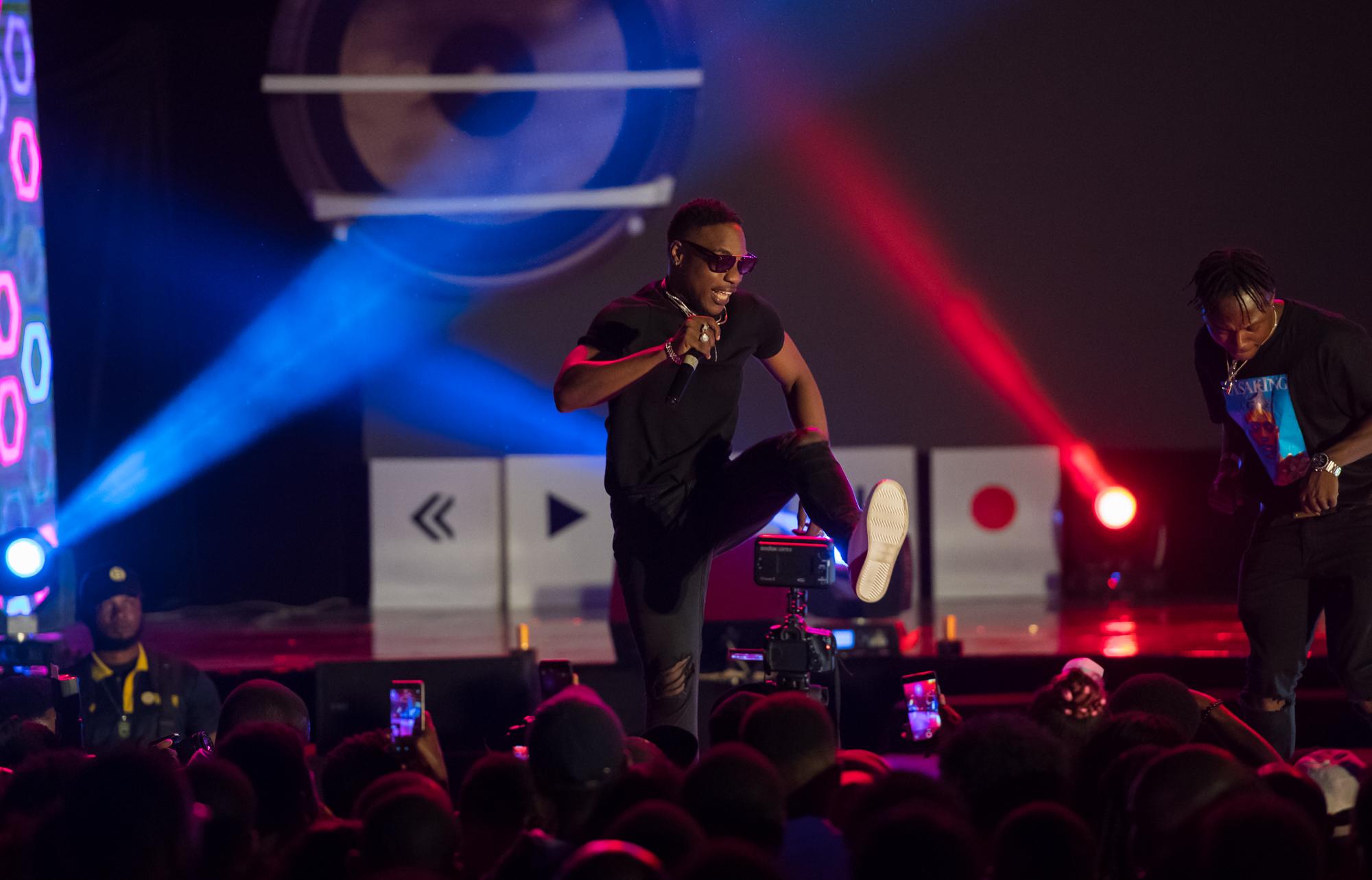 Lagos, Nigeria. 9th November 2018.  L.A.X performing at Human Radio Concert. Photographed by Michael Tubes