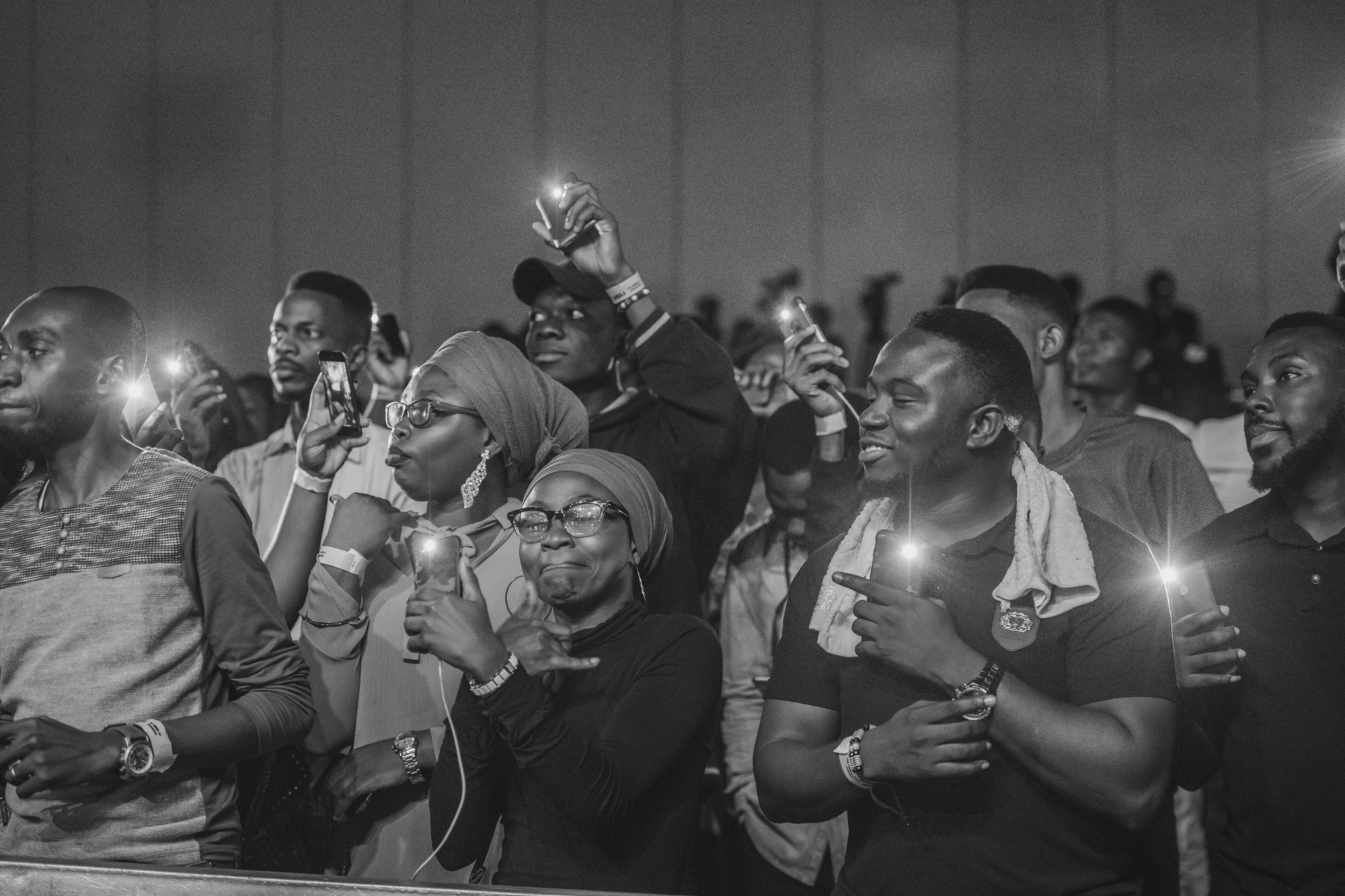 Lagos, Nigeria. 9th November 2018.  Fans excitement during Human Radio Concert. Photographed by Michael Tubes