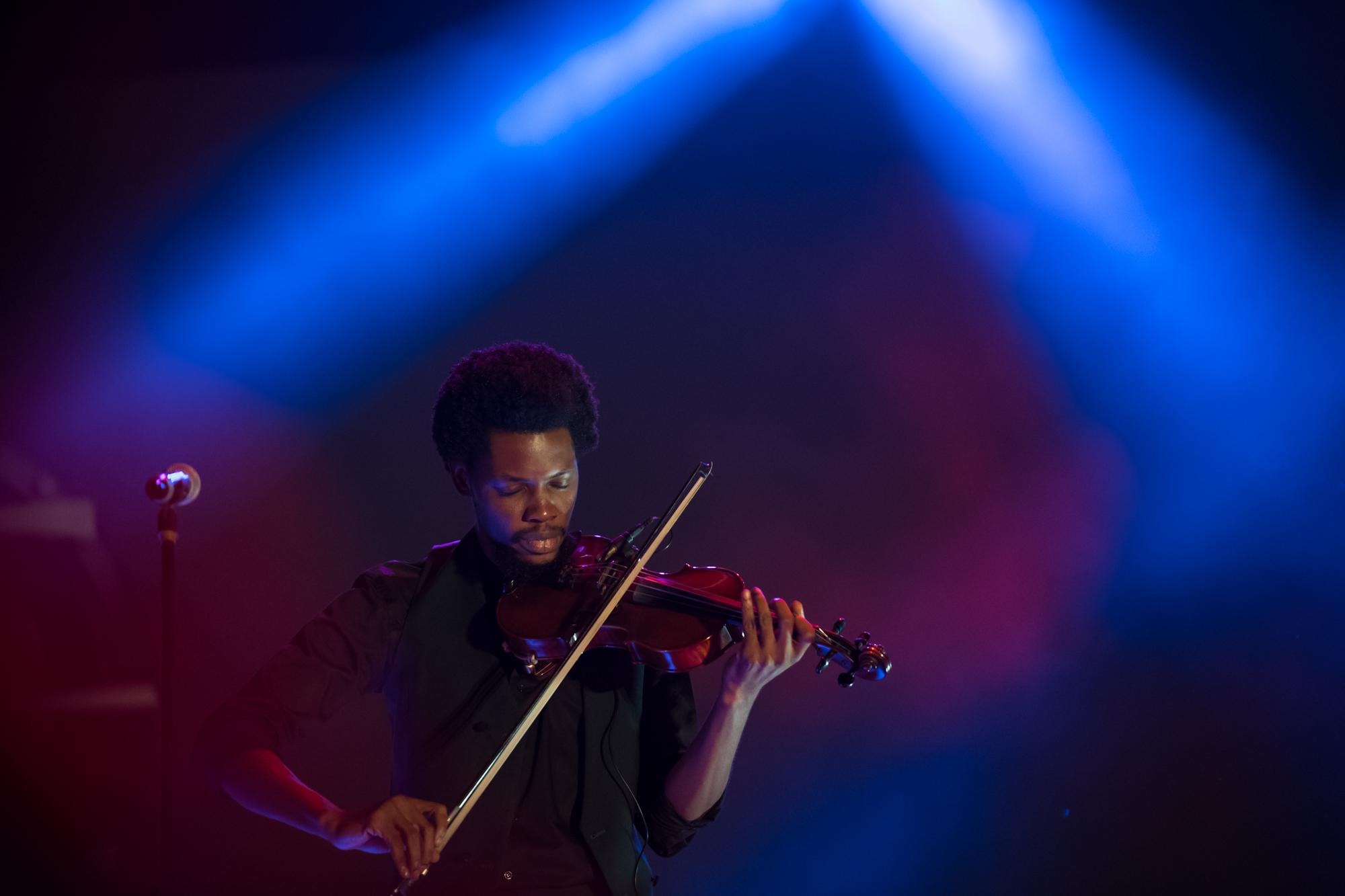 Lagos, Nigeria. 9th November 2018.  Godwinstrings performing at Human Radio Concert. Photographed by Michael Tubes