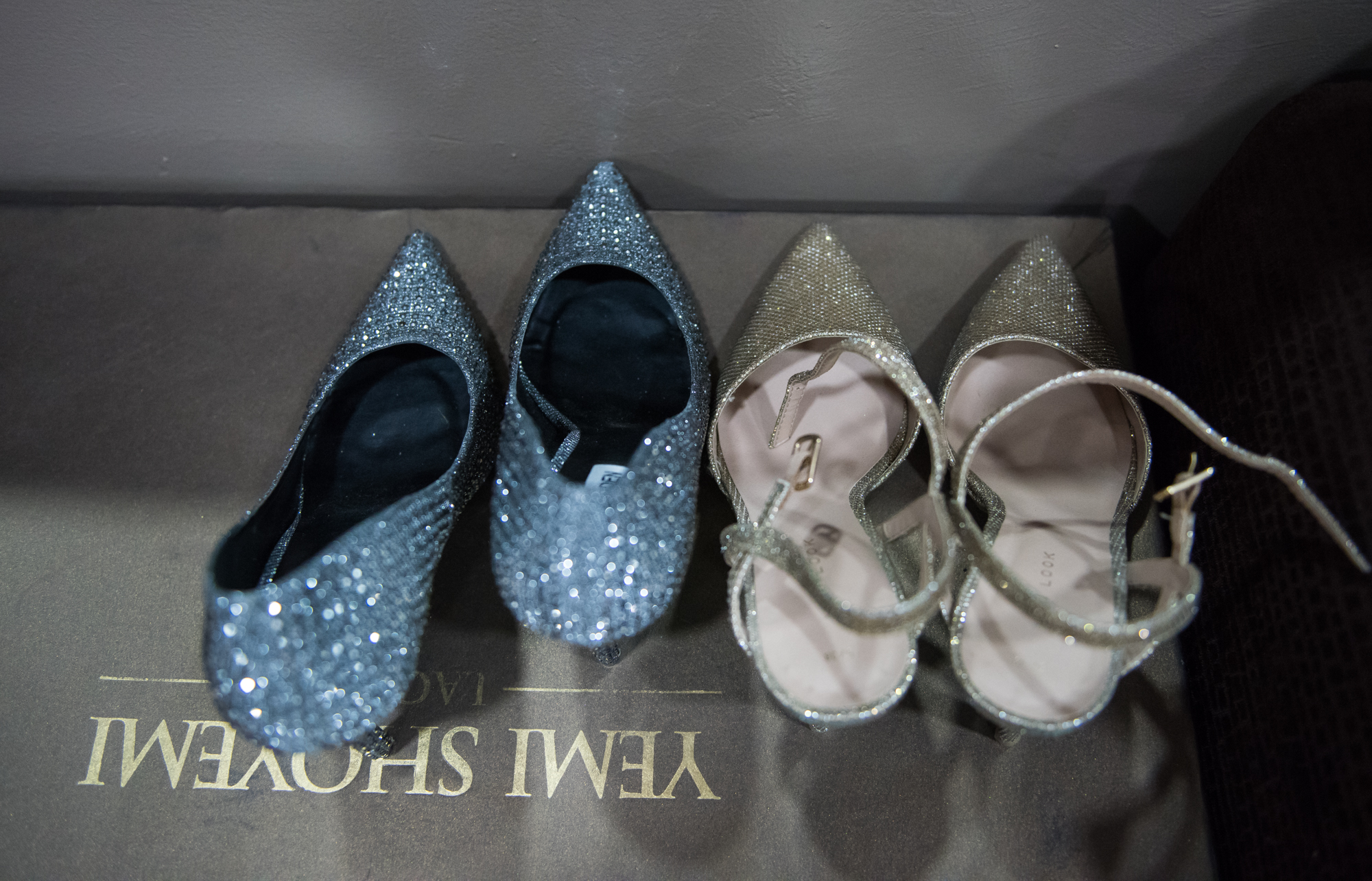 Lagos, Nigeria. 9th November 2018.  The shoes Niniola wore at her Human Radio Concert. Photographed by Michael Tubes