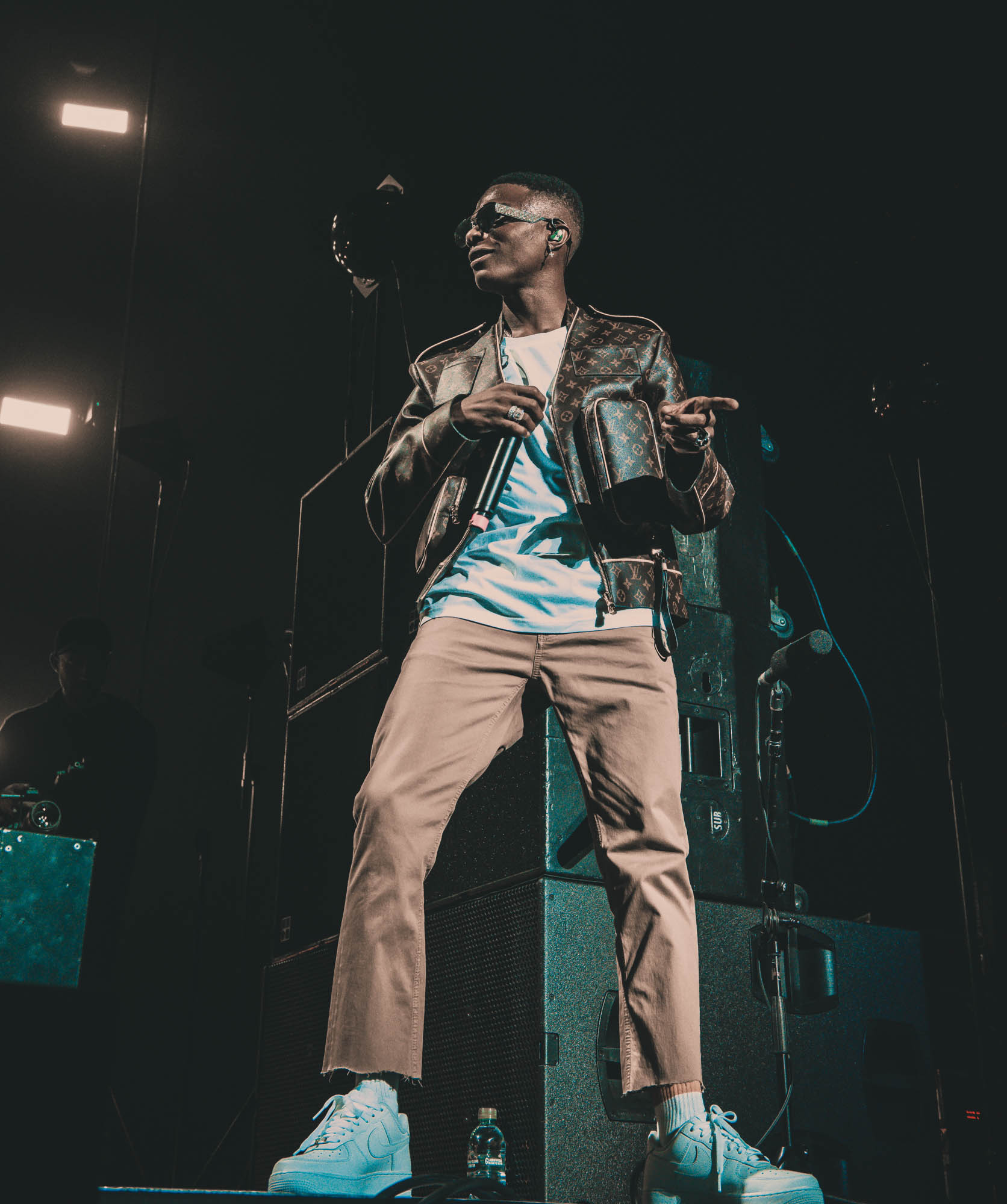London, United Kingdom. 19th October 2019.  Wizkid performing live at starboy fest at The 02 Arena. Photographed by Michael Tubes