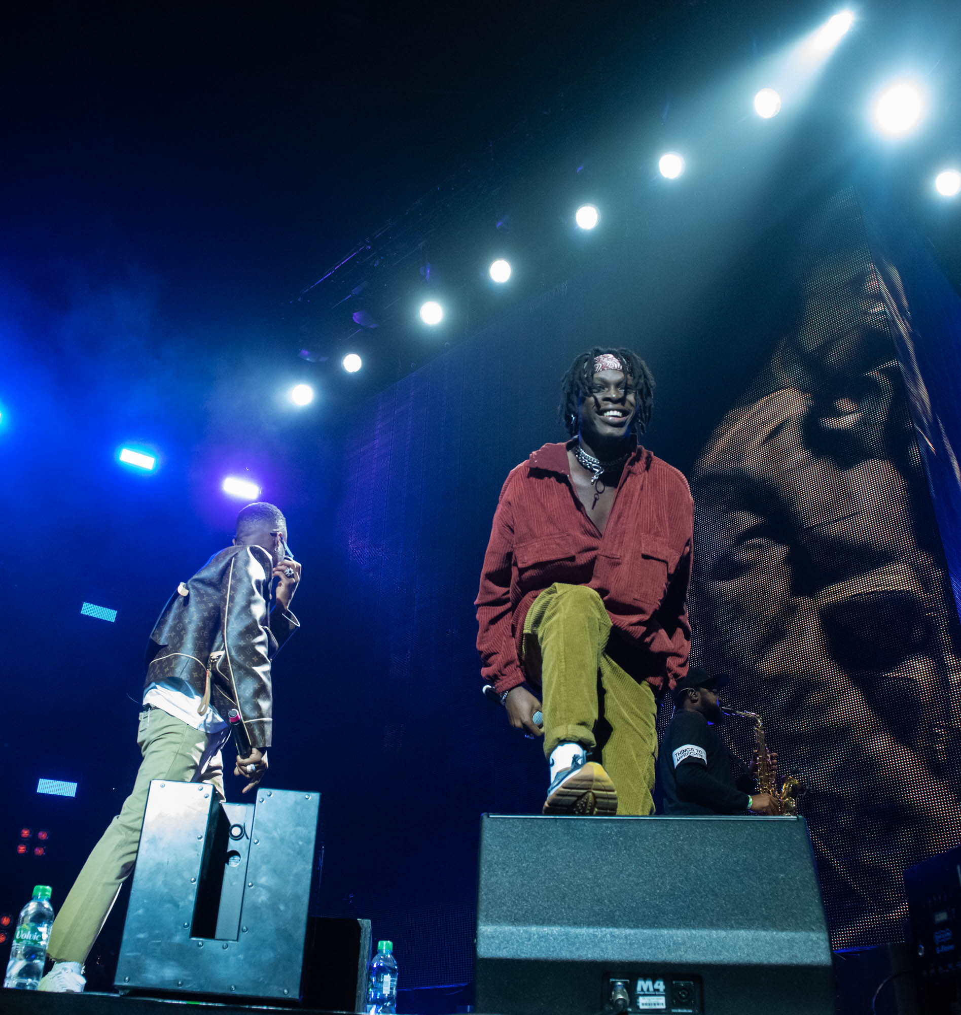 London, United Kingdom. 19th October 2019.  Wizkid  & Fireboy performing live at starboy fest at The 02 Arena. Photographed by Michael Tubes