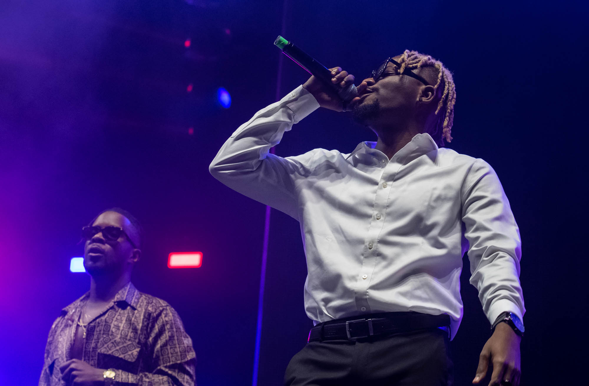 London, United Kingdom. 19th October 2019.  Maleek Berry & YCEE performing live at starboy fest at The 02 Arena. Photographed by Michael Tubes