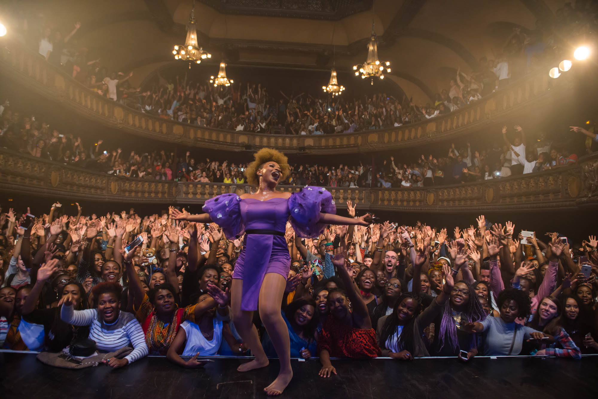 Yemi Alade performs at Le Trianon