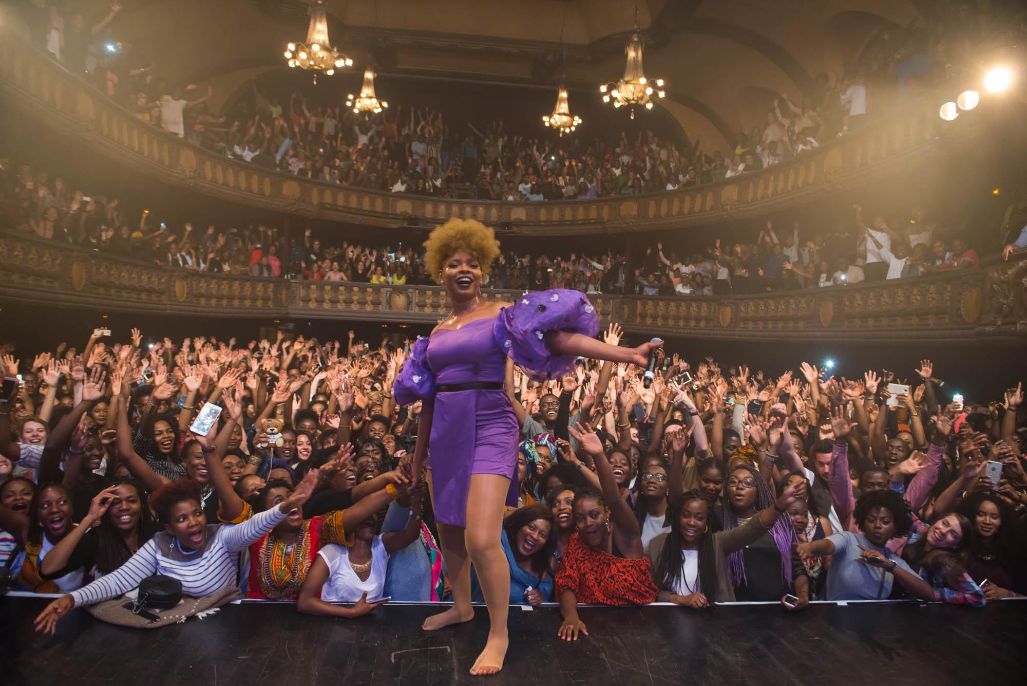 Paris, France. 7th April 2017. Yemi Alade performs at Le Trianon, Paris. Photographed by Michael Tubes