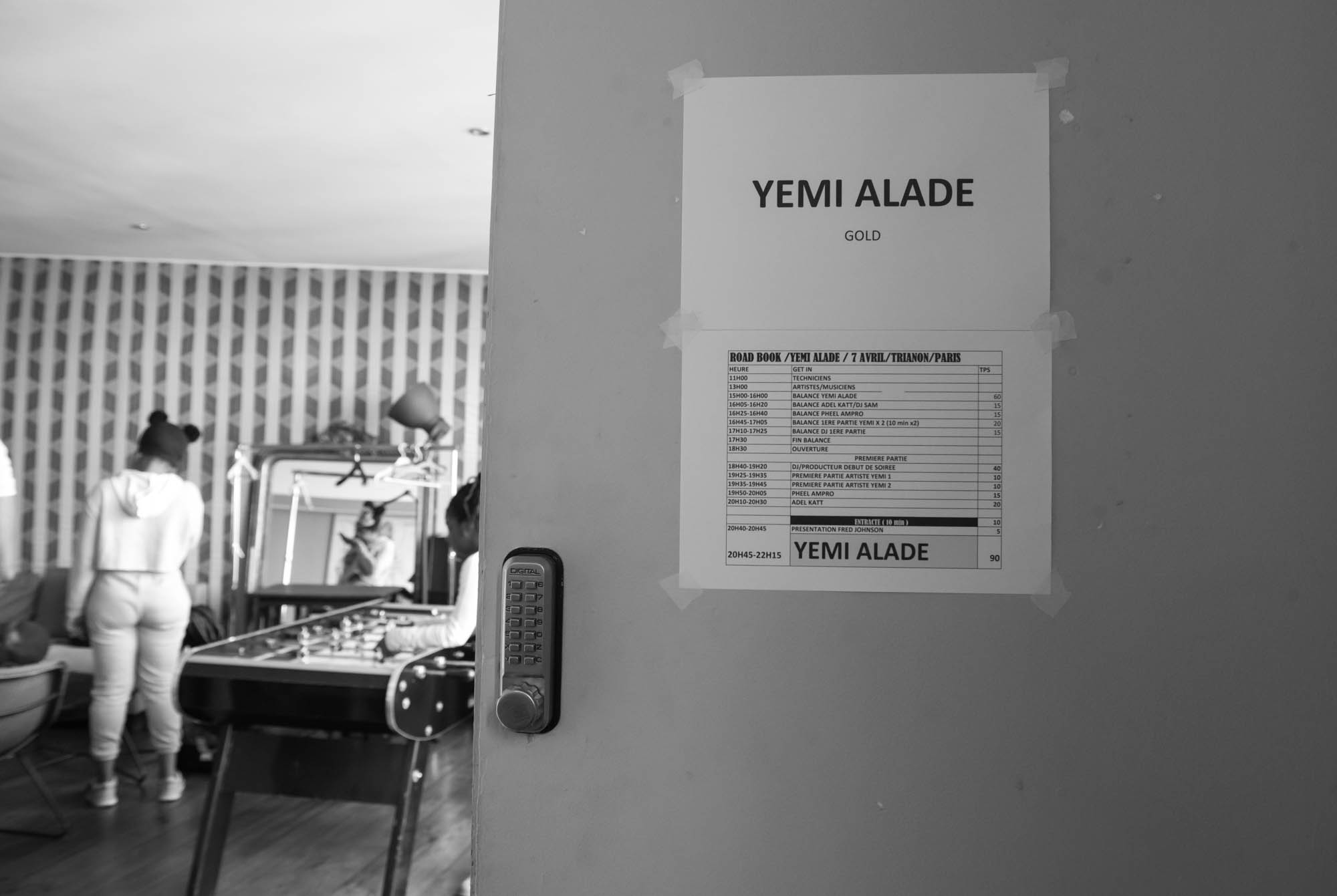 Paris, France. 7th April 2017. Sound check before Yemi Alade's performance at Le Trianon, Paris. Photographed by Michael Tubes